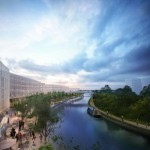 Cargiant Early CGI showing the potential of Grand Union Canal