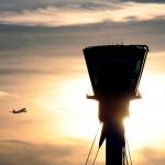 heathrow control tower sunset