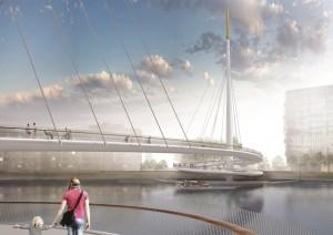 Bystrup Architecture thames bridge design 3
