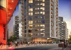 Brentford-new-stadium-and-homes-at-Prime-Place-Kew-Bridge